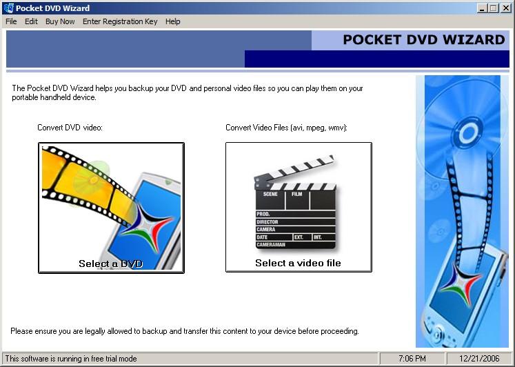 Pocket DVD Wizard - Очень простая в использовании программа, конвертирующая