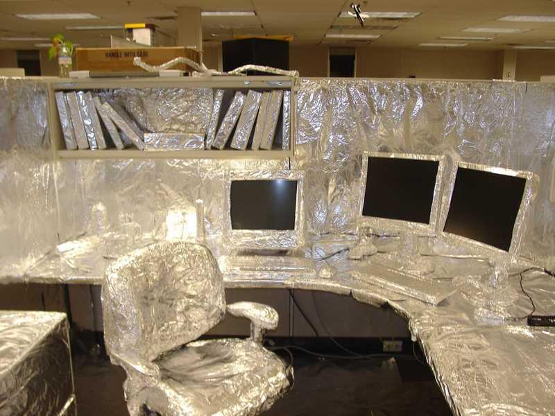 aluminum foil prank
