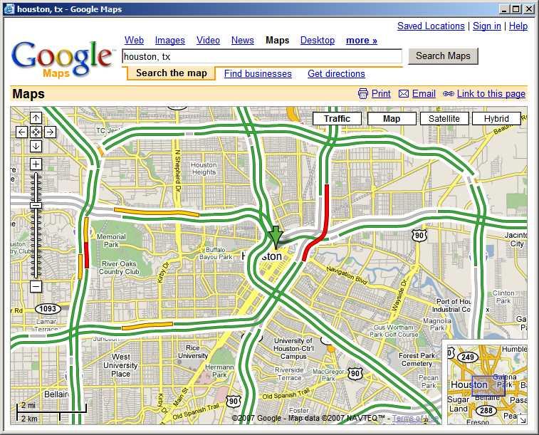 traffic maps houston indiana map