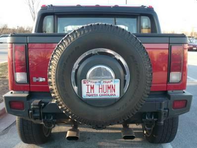 Hummer H2 License Plate