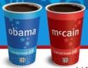 Obama / McCain Coffee Cups