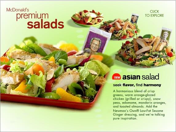 mcdonalds asian salad calories with dressing